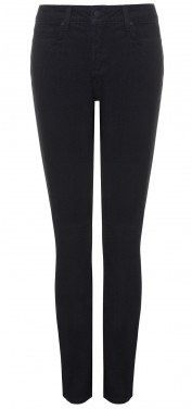 Slim straight in black coloured denim