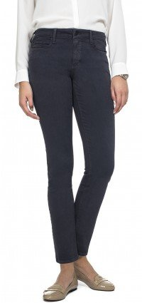Slim straight in steel blue sateen denim