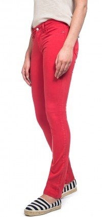 Skinny in red cotton twill (Plus)